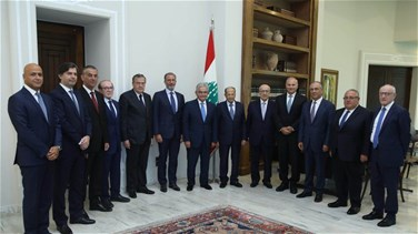 President Aoun meets with head of Association of Banks in...