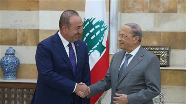 President Aoun meets with Turkish Foreign Minister
