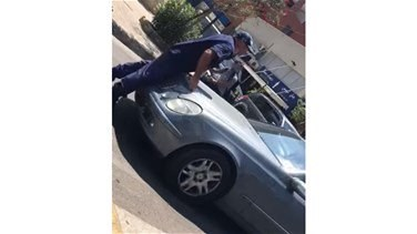 Taxi driver attempts to ram policeman in Jounieh-[VIDEO]