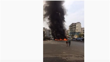 Popular Videos - Sarba highway blocked with burning tires (Video)
