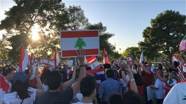 Lebanese expatriates in US Arizona show solidarity with Lebanon's protests-[VIDEO]