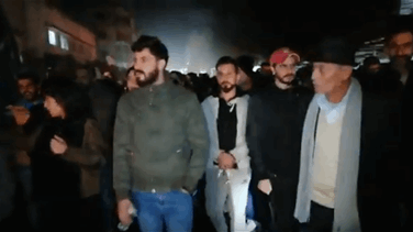 Protesters march Nabatieh streets-[VIDEO]