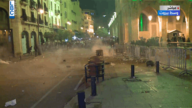 Tension renews in central Beirut as security forces fire tear gas to disperse protesters (Video)