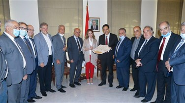 Diab meets Mount Lebanon Traders Union delegation