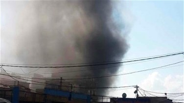 Fire erupts in a paint factory in Ouzai-[VIDEO]