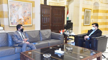 Caretaker PM Diab meets with Ghajar, Kubis