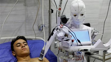 Lebanon News - Egyptian inventor trials robot that can test for COVID-19-[PHOTOS]